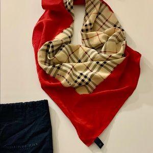Burberry Signature Nova Check Plaid SilkScarf/Wrap
